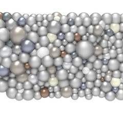 Bubble gum. 3d pearls. Background pattern.