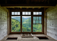 View From A Window In A Wooden...