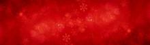 Xmas Background. Red Pattern Snowflake Backdrop Wallpaper.