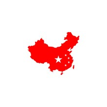 Simple China Island And Flag V...