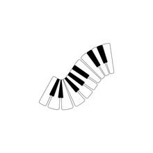 Piano Logo Design Template. Vector Illustration