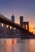 Brooklyn Bridge And New York C...