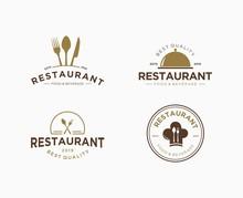 Set Of Logo Design For Restaur...