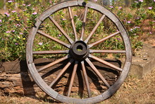 Wooden Wheel With Iron Rim And...