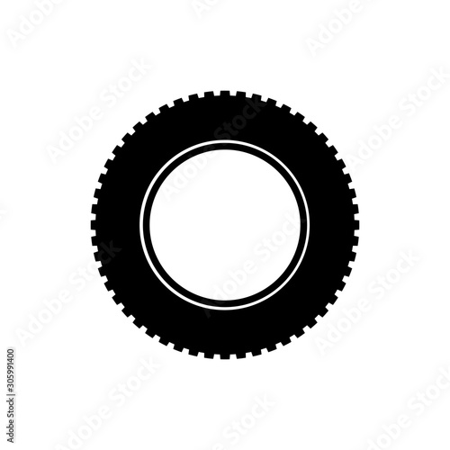 Fototapety, obrazy: Tire Icon Trendy Flat Design