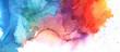 Leinwandbild Motiv Art Abstract paint blots background. Alcohol ink blue colors. Marble texture. Horizontal long banner.