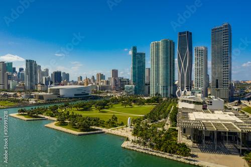Aerial Museum Park Downtown Miami FL Fototapeta