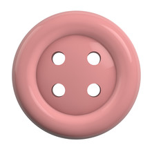 Pink Button Isolated On White Background