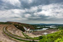 Furnas Hydroelectric Plant In Rio Grande, State Of Minas Gerais, Brazil,  AKA The Minas Sea.