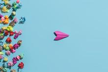 A Paper Plane Flies Away From ...
