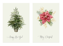 Watercolor Christmas Two Cards...