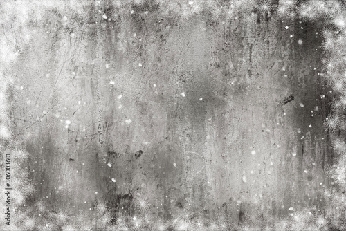 Elegant vintage grey Christmas and New year  background - 306003601