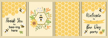 Bee Party Template Set Bee Bab...