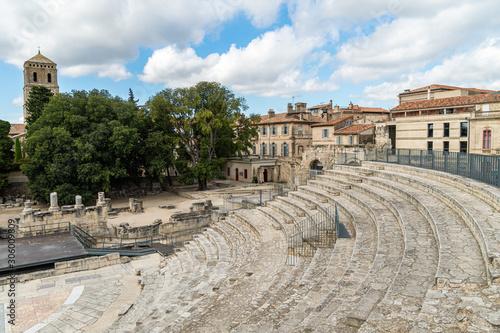 Photo Roman amphitheatre in Arles, France
