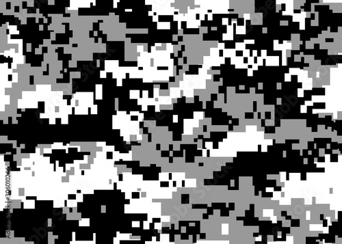 Print texture camouflage army gray white black repeats seamless pixel