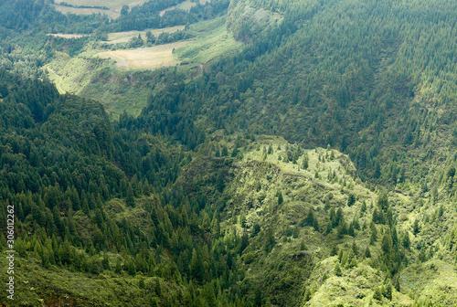 Fototapeta view of mountains obraz na płótnie