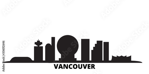 Fotomural  Canada, Vancouver City city skyline isolated vector illustration