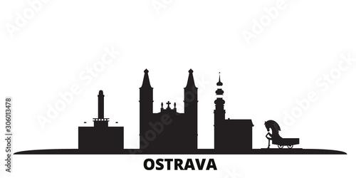 Fototapeta Czech Republic, Ostrava city skyline isolated vector illustration
