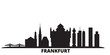 Germany, Frankfurt city skyline isolated vector illustration. Germany, Frankfurt travel cityscape with landmarks