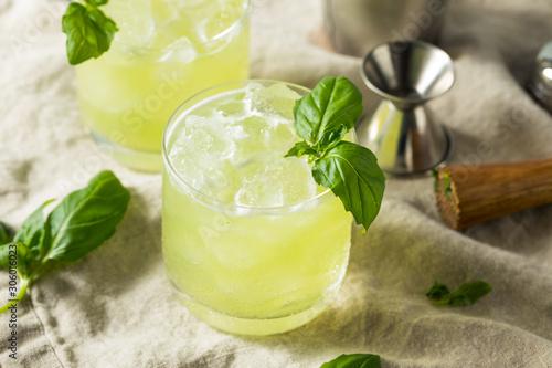 Fototapeta Homemade Alcoholic Gin Basil Smash obraz