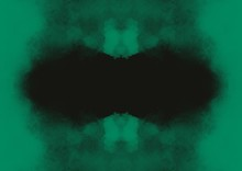 Green Mist Abstract Frame With Geometrical Shape
