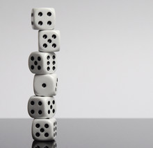 Dices On White Background