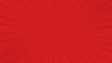 Comics Rays Red Background Wit...