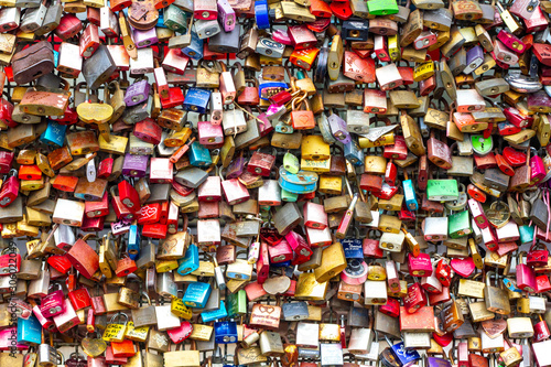 Photo Wall of padlocks