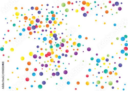 Photo  Festive color round confetti background