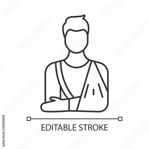 Fotografía Orthopedic cast linear icon