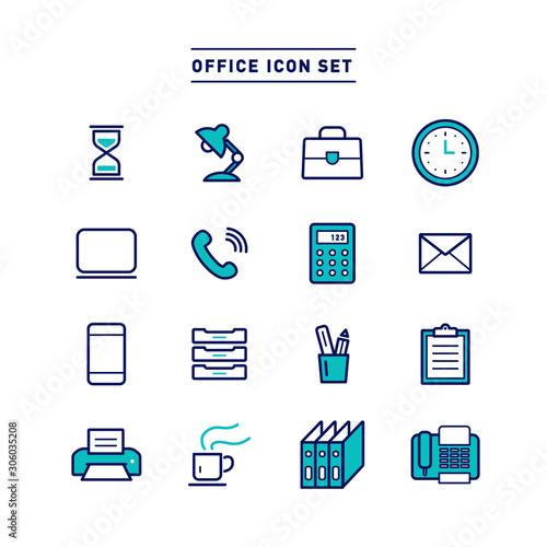 Obraz OFFICE ICON SET - fototapety do salonu