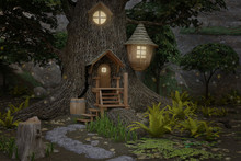 Fairy House 3D Render