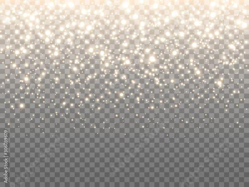 Obraz na plátně Gold glitter particles