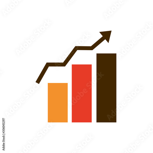 statistics growth diagram business strategy icon