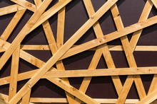 Wooden Stick Pattern Isolated On Brown Background