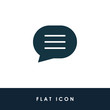 Bubble Chat Illustration Single Icon Design Vector EPS 10