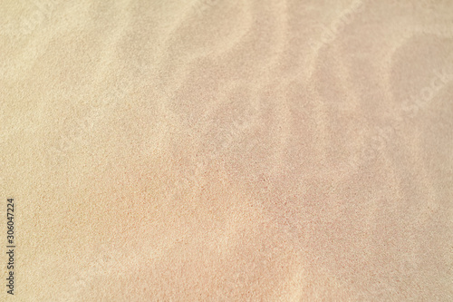 Fotografía  Closeup of a wavy texture of clean sand in the wind.