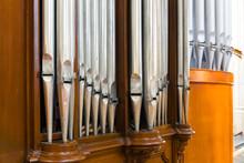Organ Pipes Closeup, Antique M...