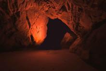 Inside Interior Of Dark Underg...