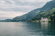 Lake And Village In Luzern, Sw...