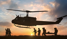 Military Rescue Helicopter Dur...
