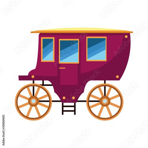 Photo vintage carriage icon, flat design