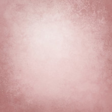 Pink Background Texture, Old Distressed Vintage Grunge In Faded White Center And Pastel Mauve Pink Border Design That Is Blank With Copyspace