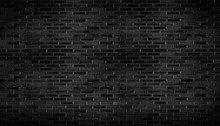 Abstract Black Brick Wall Patt...