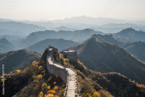 Canvastavla  Scenic panoramic view of the Great Wall Jinshanling portion close to Beijing, on