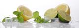 Frische Limetten und Zitronen