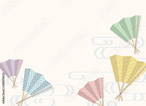 Traditional Japanese Hand Fan Kimono Pattern Vector Background Buy This Stock Vector And Explore Similar Vectors At Adobe Stock Adobe Stock