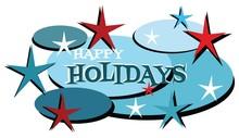 Happy Holidays Mid Century Mod...