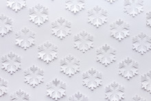 White Winter Background Made F...