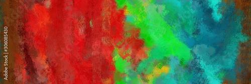 Obraz background design paint brushed with dark slate gray, sea green and firebrick color - fototapety do salonu